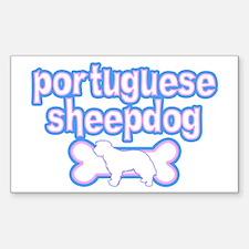 Powderpuff Portuguese Sheepdog Rectangle Decal