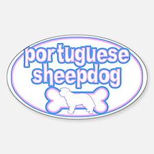Powderpuff Portuguese Sheepdog Oval Decal