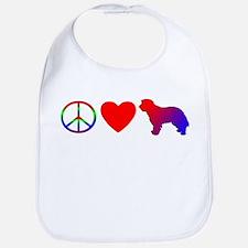 Peace Love Portuguese Sheepdog Bib