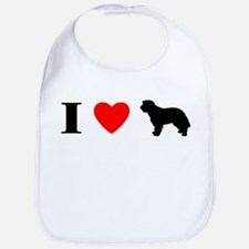 I Heart Portuguese Sheepdog Bib