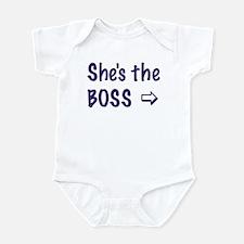 SHE'S THE BOSS-RIGHT Infant Bodysuit