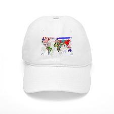 World Flags Map Baseball Cap