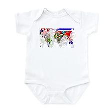 World Flags Map Infant Bodysuit