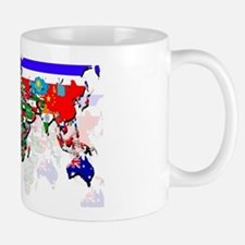 World Flags Map Mug