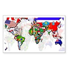 World Flags Map Decal