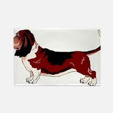 Cute Basset hound Rectangle Magnet (100 pack)