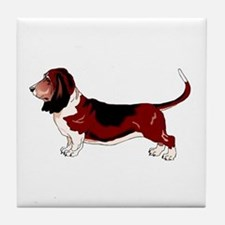 Unique Basset hound Tile Coaster