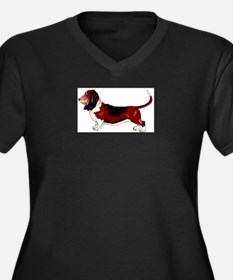 Unique Basset hound Women's Plus Size V-Neck Dark T-Shirt