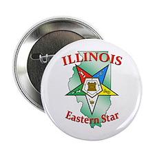 """Illinois Eastern Star 2.25"""" Button"""
