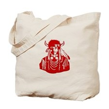 Native American Warrior #3 Tote Bag