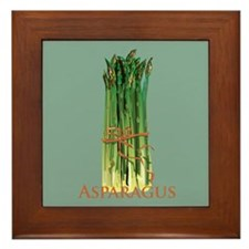 Green Asparagus Framed Tile
