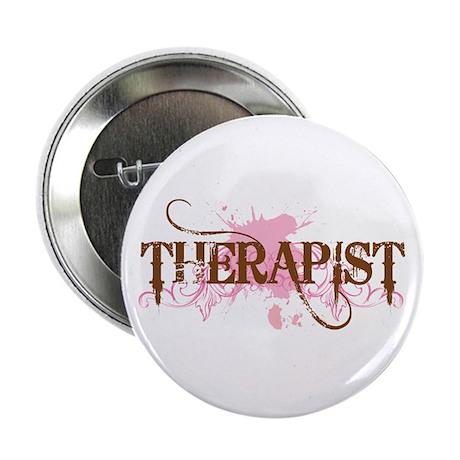 "Pink Therapist 2.25"" Button"