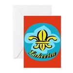 Fleur De Lis Greeting Cards (Pk of 20)