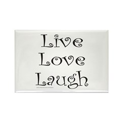 LIVE LOVE LAUGH Rectangle Magnet (100 pack)