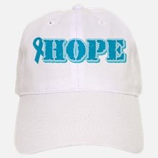 Teal Hope Ribbon Baseball Baseball Cap