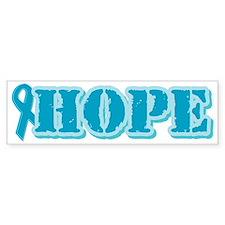 Teal Hope Ribbon Bumper Bumper Sticker