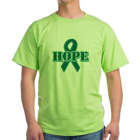 Green Hope Ribbon Green T-Shirt