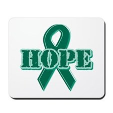 Green Hope Ribbon Mousepad