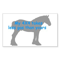 Clydesdale Rectangle Decal
