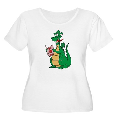 Be Mine Dragon Women's Plus Size Scoop Neck T-Shir