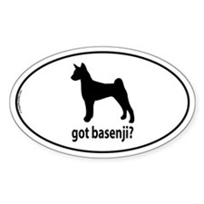 Got Basenji? Oval Decal