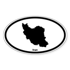 Iran Outline Oval Decal