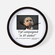 """57 States?"" Wall Clock"