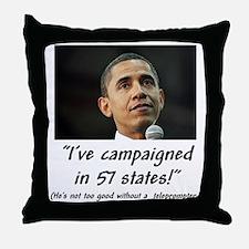 """""""57 States?"""" Throw Pillow"""
