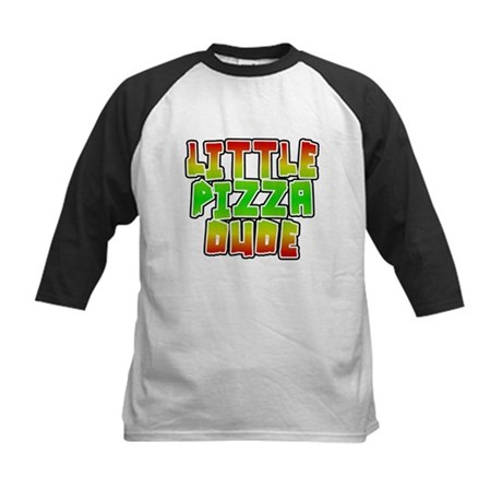 Little Pizza Dude Kids Baseball Jersey