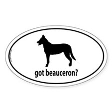 Got Beauceron? Oval Decal