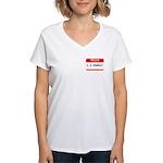 I. P. FREELY Women's V-Neck T-Shirt