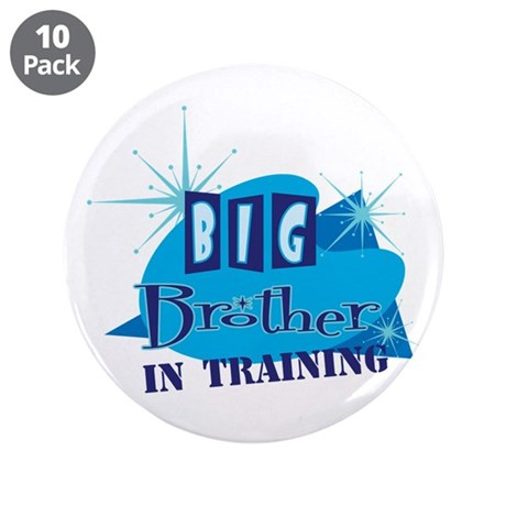 """Big Brother in Training 3.5"""" Button (10 pack)"""