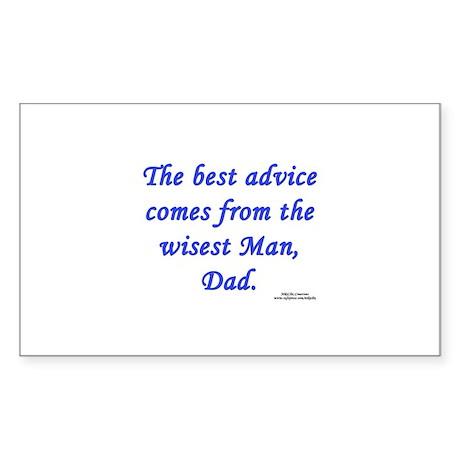 Dad's Wisdom Rectangle Sticker