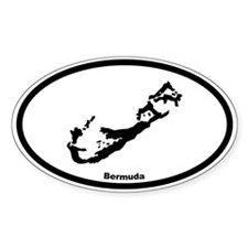 Bermuda Outline Oval Decal