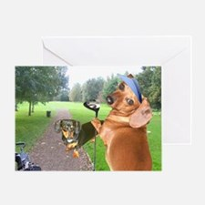 Golf Dogs Greeting Card