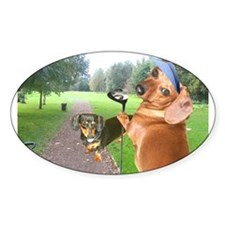 Golf Dogs Oval Decal