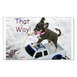 Chihuahua Trucker Rectangle Sticker