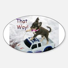 Chihuahua Trucker Oval Decal