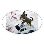 Chihuahua Trucker Oval Sticker