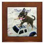 Chihuahua Trucker Framed Tile