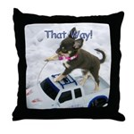 Chihuahua Trucker Throw Pillow