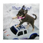 Chihuahua Trucker Tile Coaster