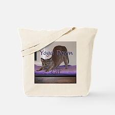 Yoga Down Cat Tote Bag