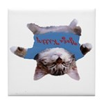 Yoga Kitty Cat Tile Coaster