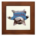Yoga Kitty Cat Framed Tile