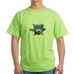 Yoga Kitty Cat Green T-Shirt