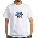 Yoga Kitty Cat White T-Shirt