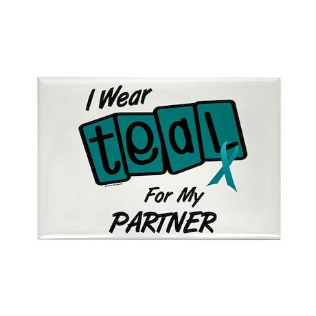 I Wear Teal For My Partner 8.2 Rectangle Magnet