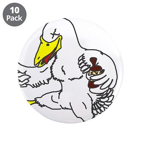 Drunk Duck Button (10 pack)