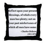 Charles Dickens 6 Throw Pillow